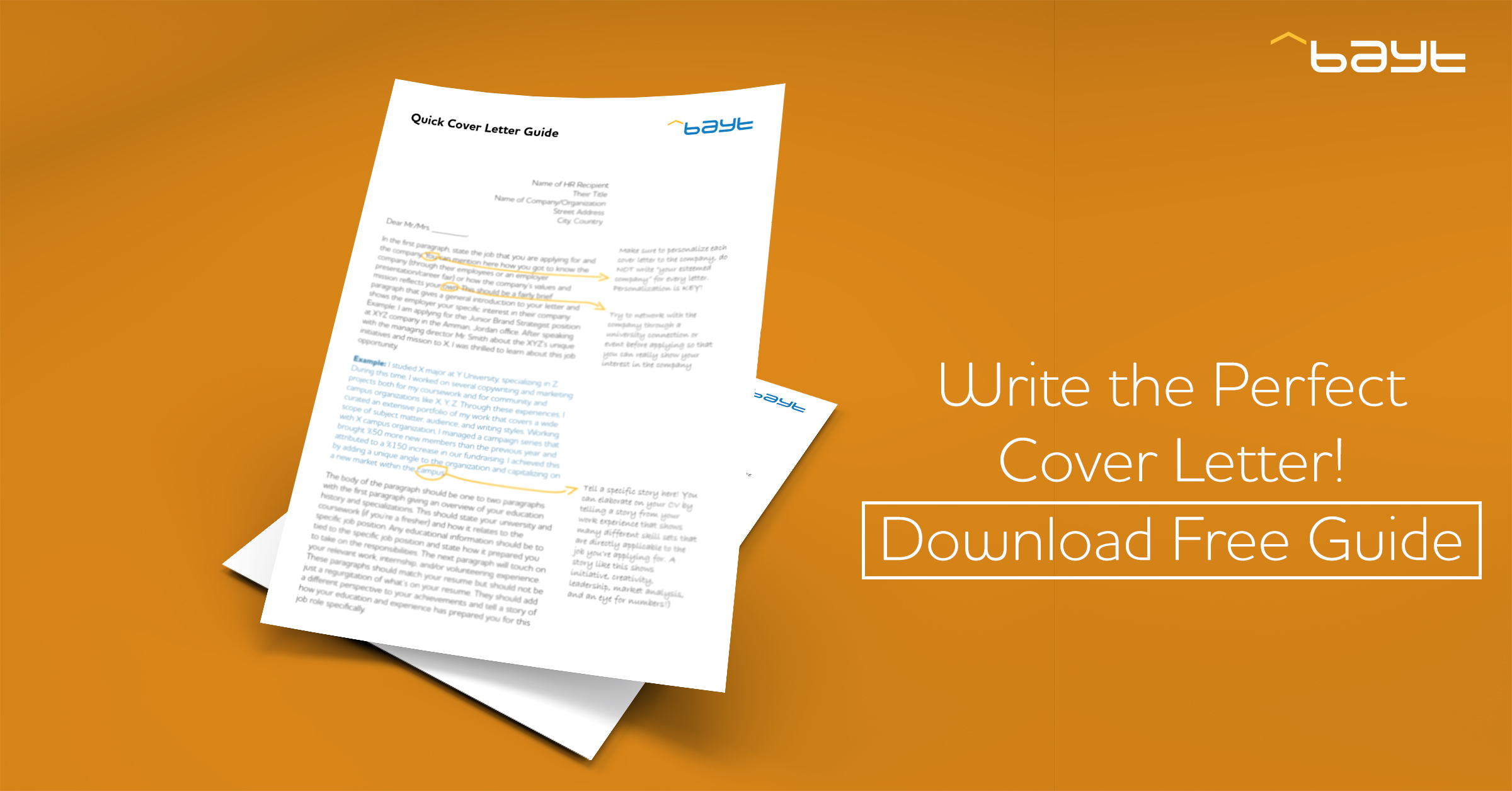 Why You Need Bayt.com's FREE Cover Letter Guide!